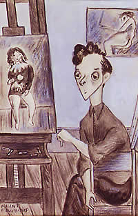 Caricature of Raphael Soyer