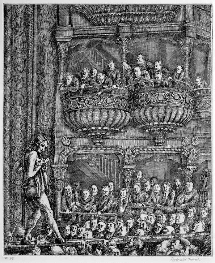 Reginald Marsh Gaiety Burlesque