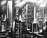 New York Night lithograph by Howard Norton Cook